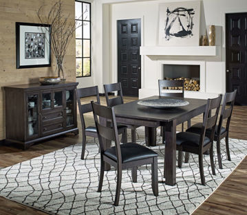 Picture of Mariposa Warm Gray Dining Set
