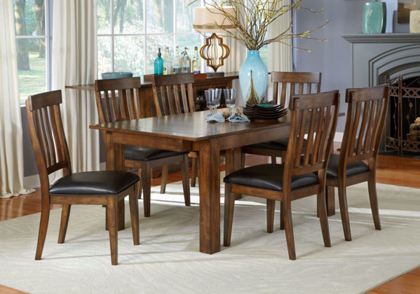 Picture of Mariposa Rustic Whiskey 6-Chair Dining Set