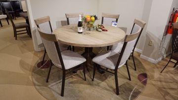 "Picture of Martina 52"" Round Table and 6 Eleanor Chairs"