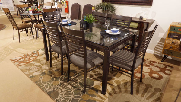 Picture of Robert Glass Table and 6 Edwin Chairs
