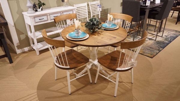 Picture of Salton Round Table and 4 Angelina Chairs