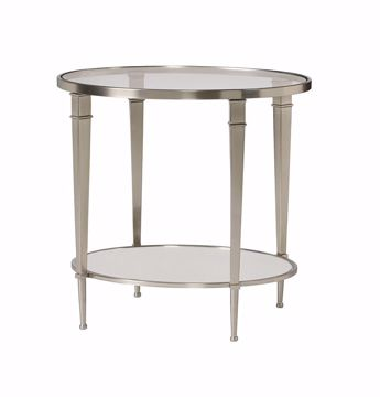 Picture of Mallory Oval End Table with Shelf