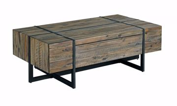 Picture of Modern Timber Rectangular Cocktail Table