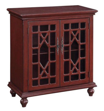 Picture of Red Two-Drawer Cabinet
