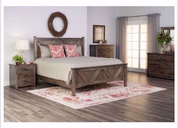Picture of BENCH BUILT QUEEN STORAGE BED
