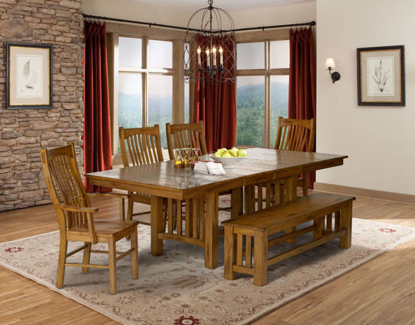 Picture of Laurelhurst Rustic Dining 4-Chair Set with Bench