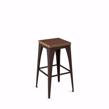 Picture of Upright Counter Stool with Wood Seat