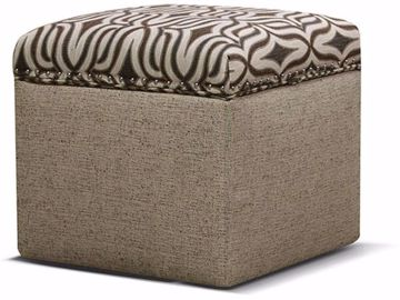 Picture of Parson Storage Ottoman with Nails