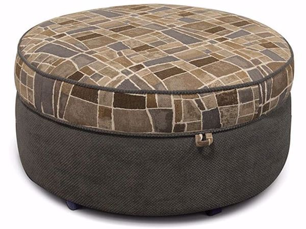 Picture of Olena Round Storage Ottoman