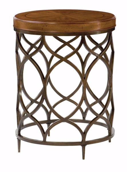 Picture of Hidden Treasures Round Wood Top Lamp Table