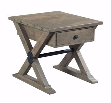 Picture of Reclamation Place Trestle Drawer End Table