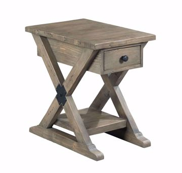 Picture of Reclamation Place Trestle Chairside Table