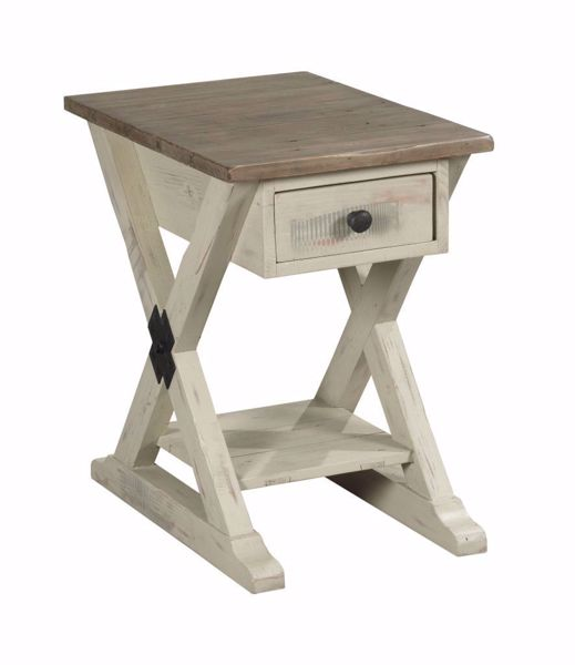Picture of Reclamation Place Trestle Chairside Table White