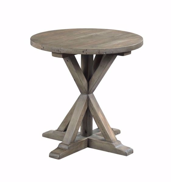 Picture of Reclamation Place Trestle Round End Table