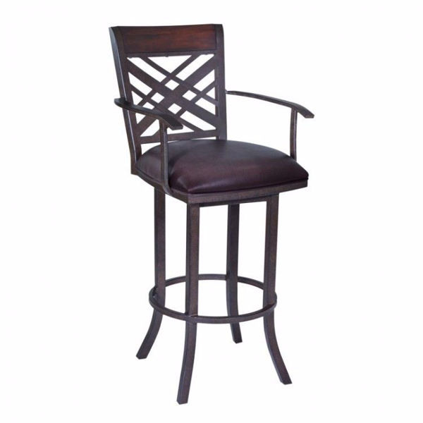Picture of Tahiti Bar Stool Brown with Arms