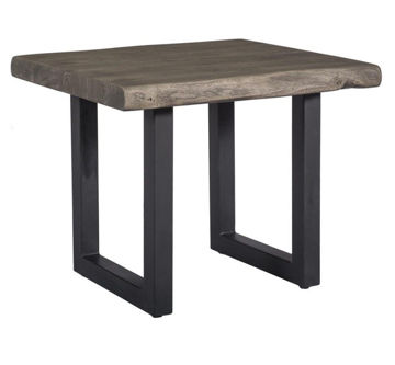 Picture of Tundra Grey Sand Blast Live-Edge End Table