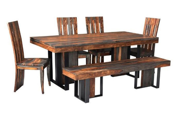 Picture of Sierra Brown Sheesham Dining Set